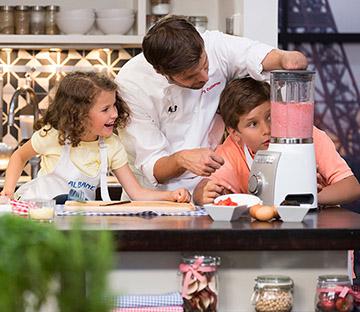 Grégory cuilleron cuisine avec des enfants